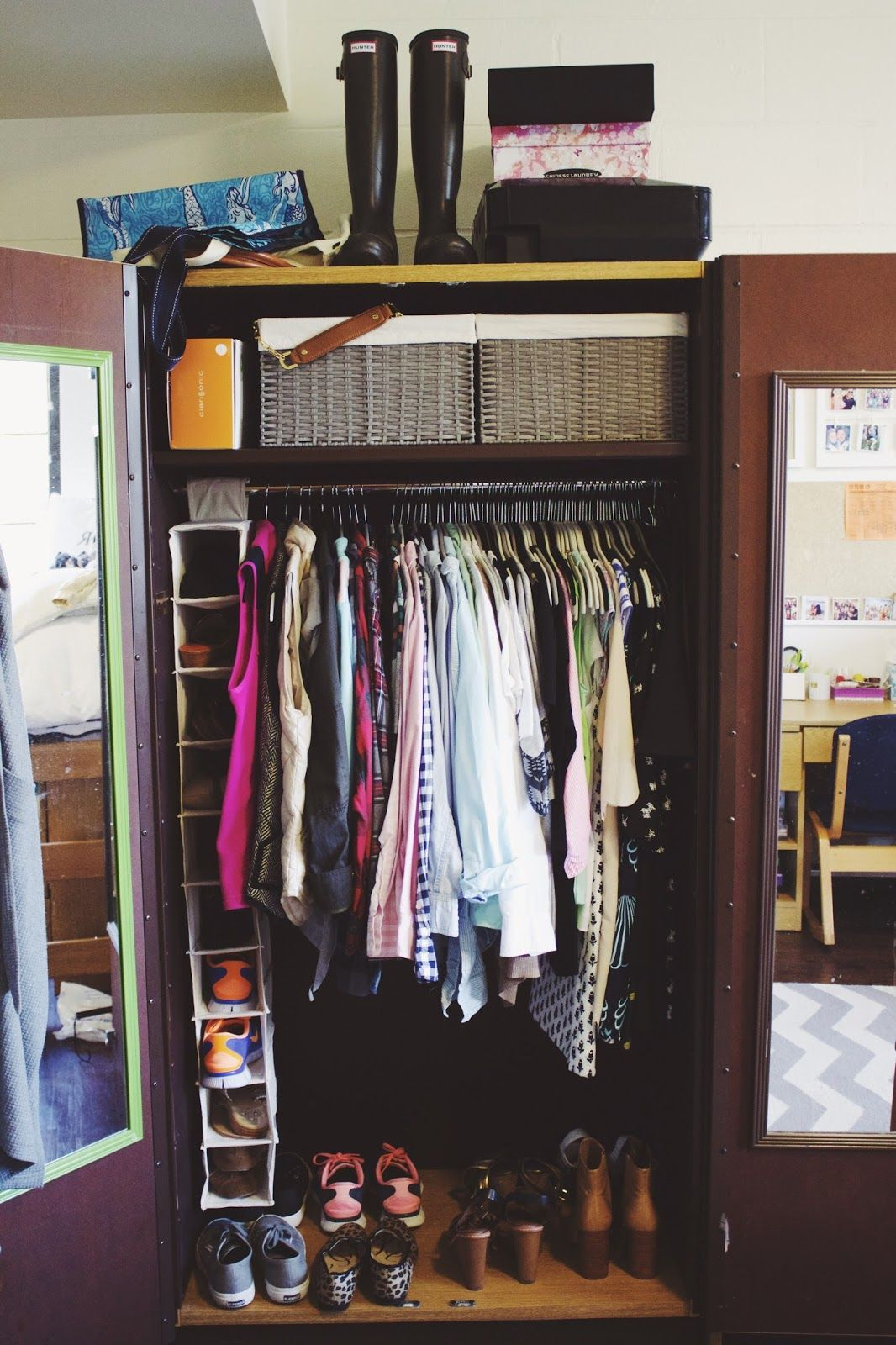 How To Organize My Dorm Room Closet