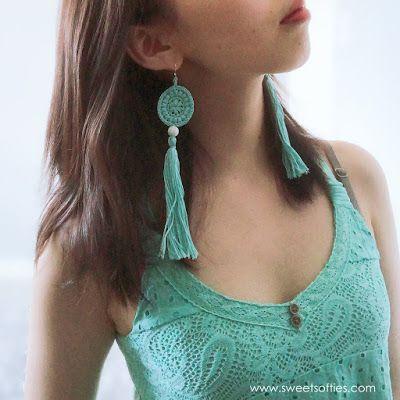 Sweet Softies   Amigurumi and Crochet: Mint Spirit Earrings (Free Crochet Pattern & DIY Tutorial)