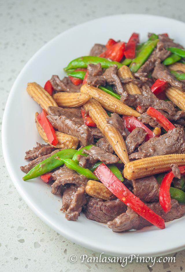 Beef And Baby Corn Stir Fry Recipe Panlasang Pinoy Recipe Baby Corn Recipes Recipes Healthy Chicken Stir Fry