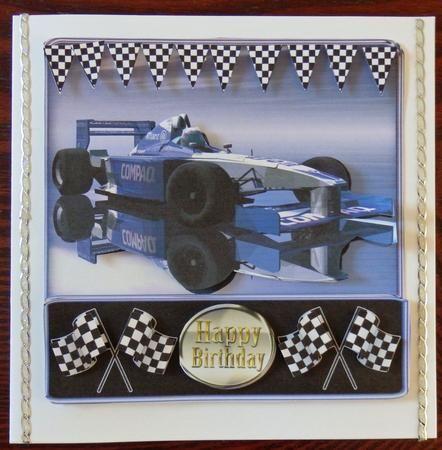 Card Gallery Bmw Racing Car Quick Card With Model Formula 1 Car
