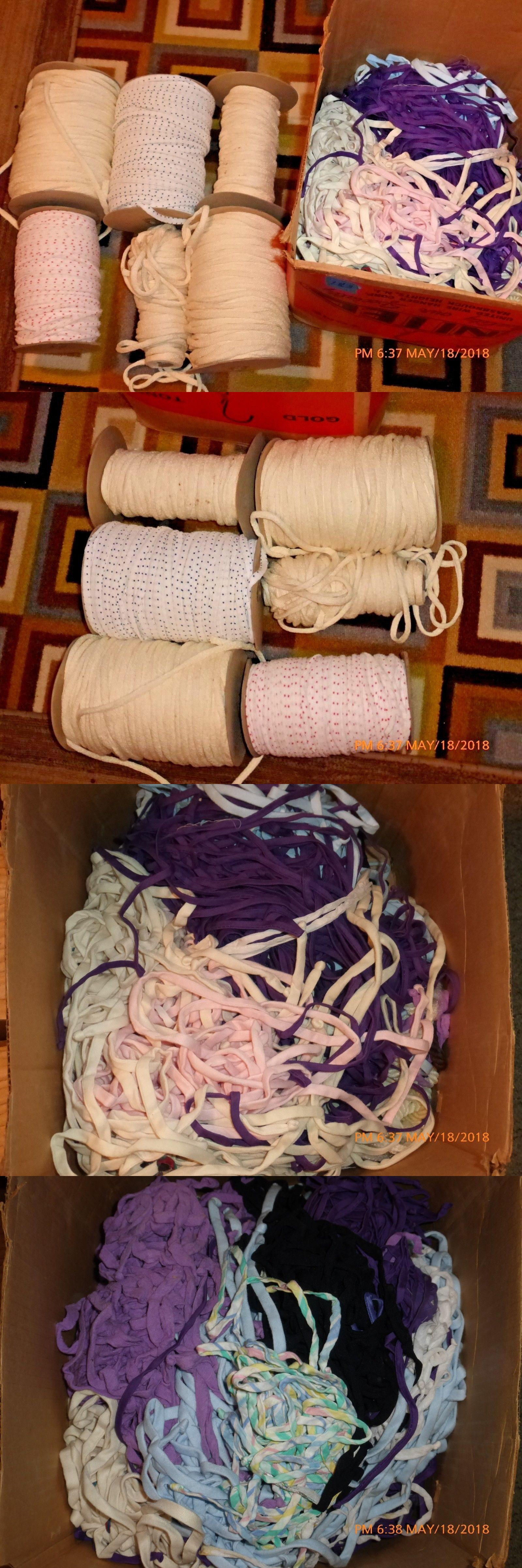 Other Rug Braiding 160671 Lot Of Vintage Making Fabric Material Supplies Some New On
