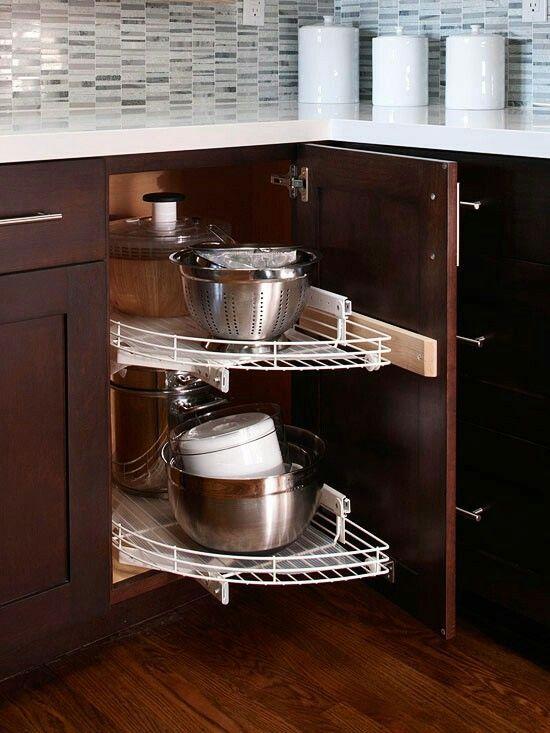 Kitchen Cabinet Storage Corner, Corner Kitchen Cabinet Storage Ideas