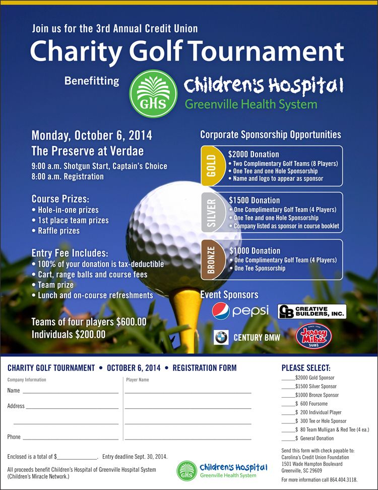 childrens golf flyer