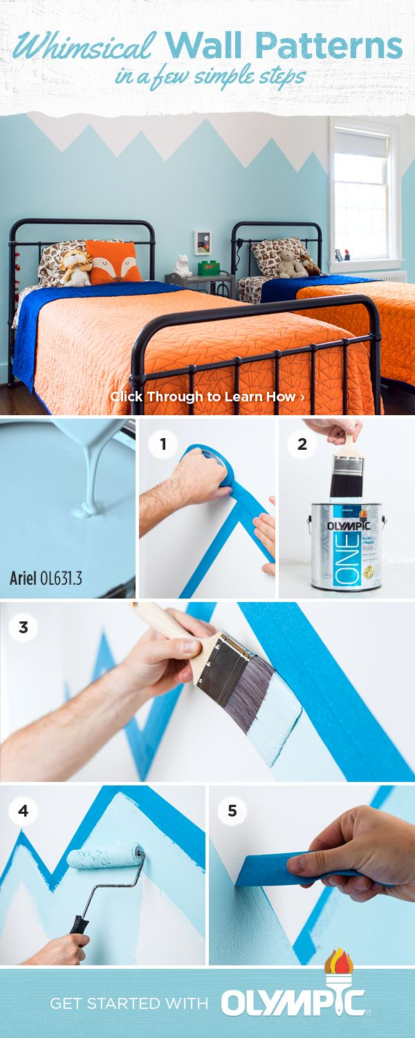 Diy Kids Room Paint Pattern The Kids Room Is A Place To Play Right So Have A Little Fun And Recreate Boys Room Wall Color Boy Room Paint Themed Kids Room