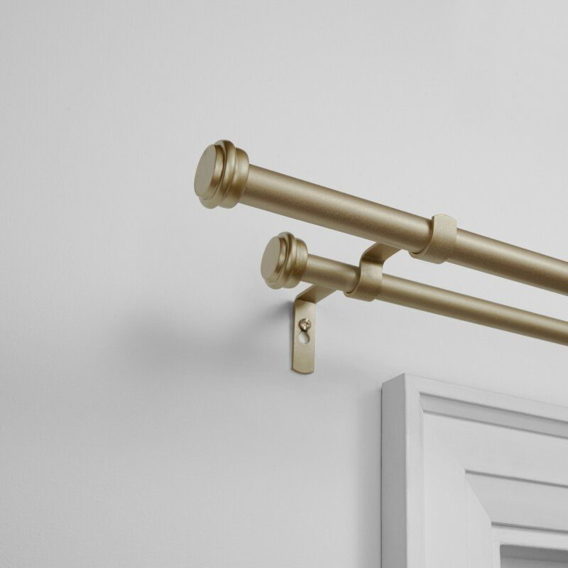 Cheviot Double Curtain Rod Hardware Set In 2020 Double Rod
