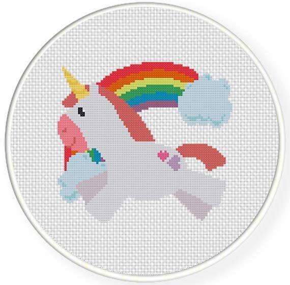 Unicornio | Arte pixel | Pinterest | Unicornio, Punto de cruz y Puntos