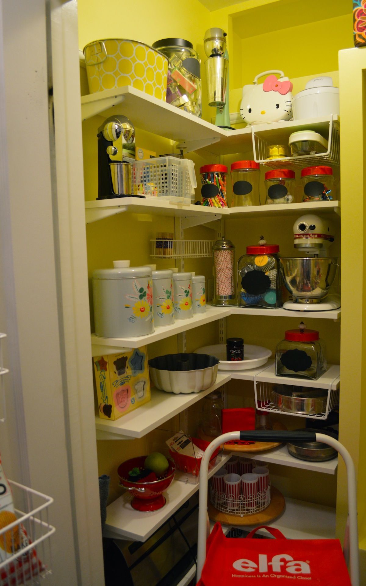 Container Store Kitchen | So Thrilled To Have Our New Elfa Kitchen Pantry From The Container