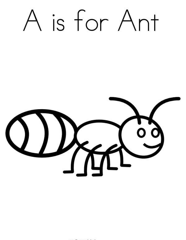 A Is For Ant In Species Of Bugs Coloring Page Coloring Sun Bug Coloring Pages Coloring Pages Ants