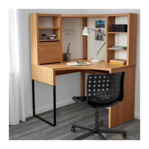 Micke Oak Effect Corner Workstation 100x141 Cm Ikea Corner Workstation Home Office Furniture Design Home Office Furniture