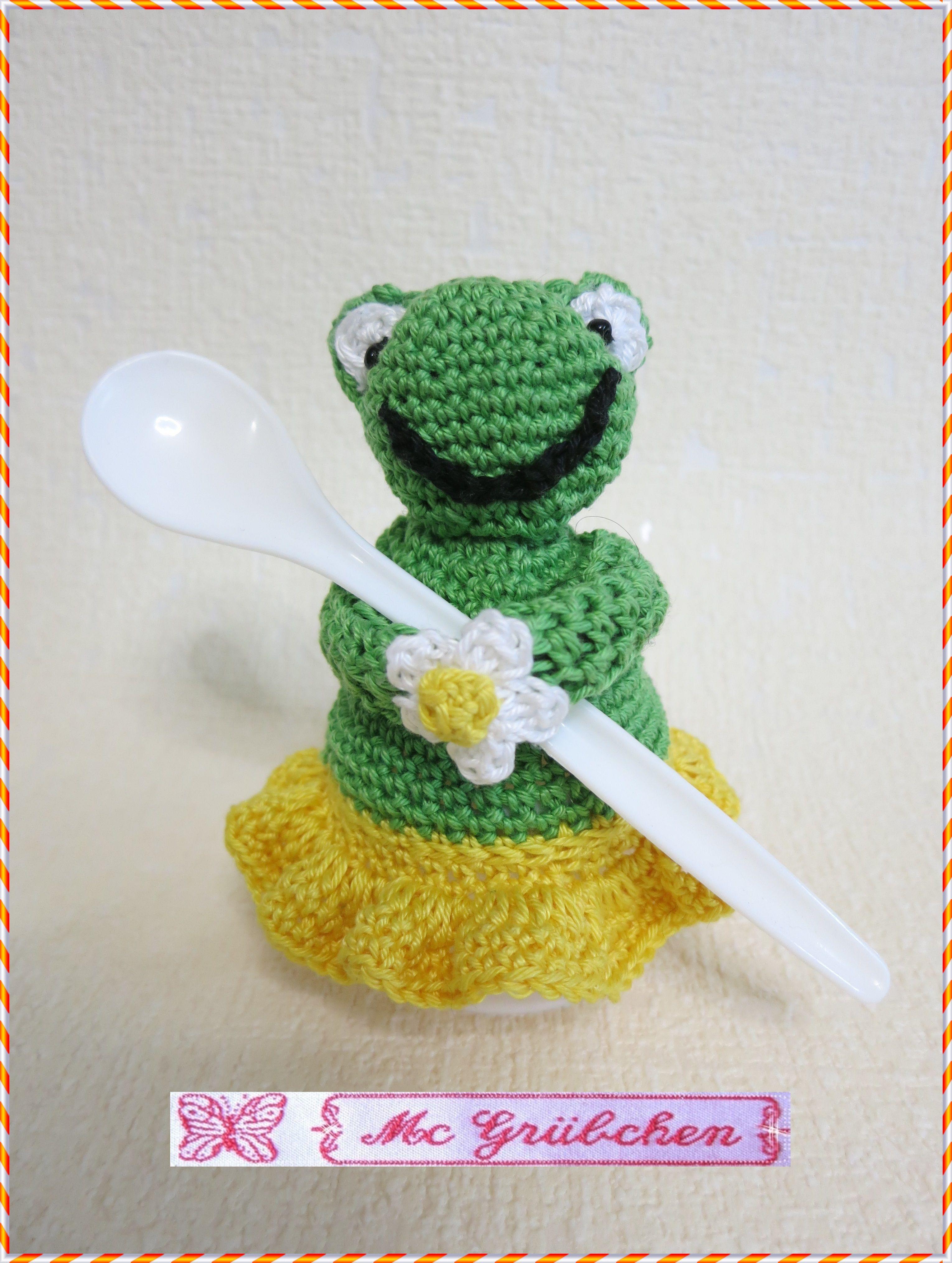 Gehäkelter Eierwärmer Für Einen Frosch Liebhaber Made By Me
