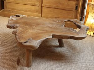Table Basse En Teck Massif Piece Unique Et Originale En