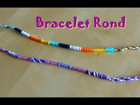 Bracelet brésilien rond facile (atébas) débutant , YouTube