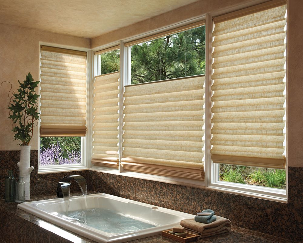 Bathroom window blinds - The Louver Shop Carries A Wide Selection Of Custom Interior Shutters Shades Blinds From Top Name Brands Like Hunter Douglas Horizons The Louver Shop S