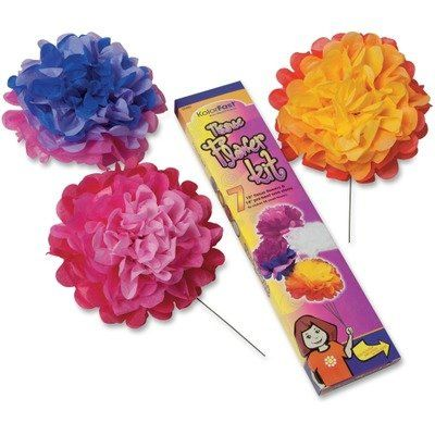 Pac59600 pacon tissue paper flower kit pacon httpamazon tissue paper flower kit 7 per kit assorted colors continue to the product at the image link mightylinksfo Image collections