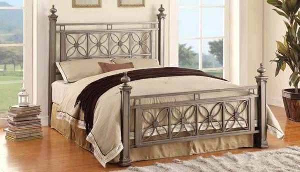 Queen Virginia Metal Bed 289 Ideal Furniture 702 202 3339 Address 6356 S Pecos Rd Ste 3 Las Vegas Camas Metalicas Muebles Hierro Y Madera Camas