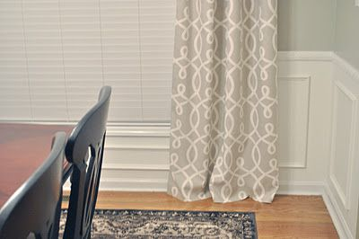 DIY Dining Room Curtains