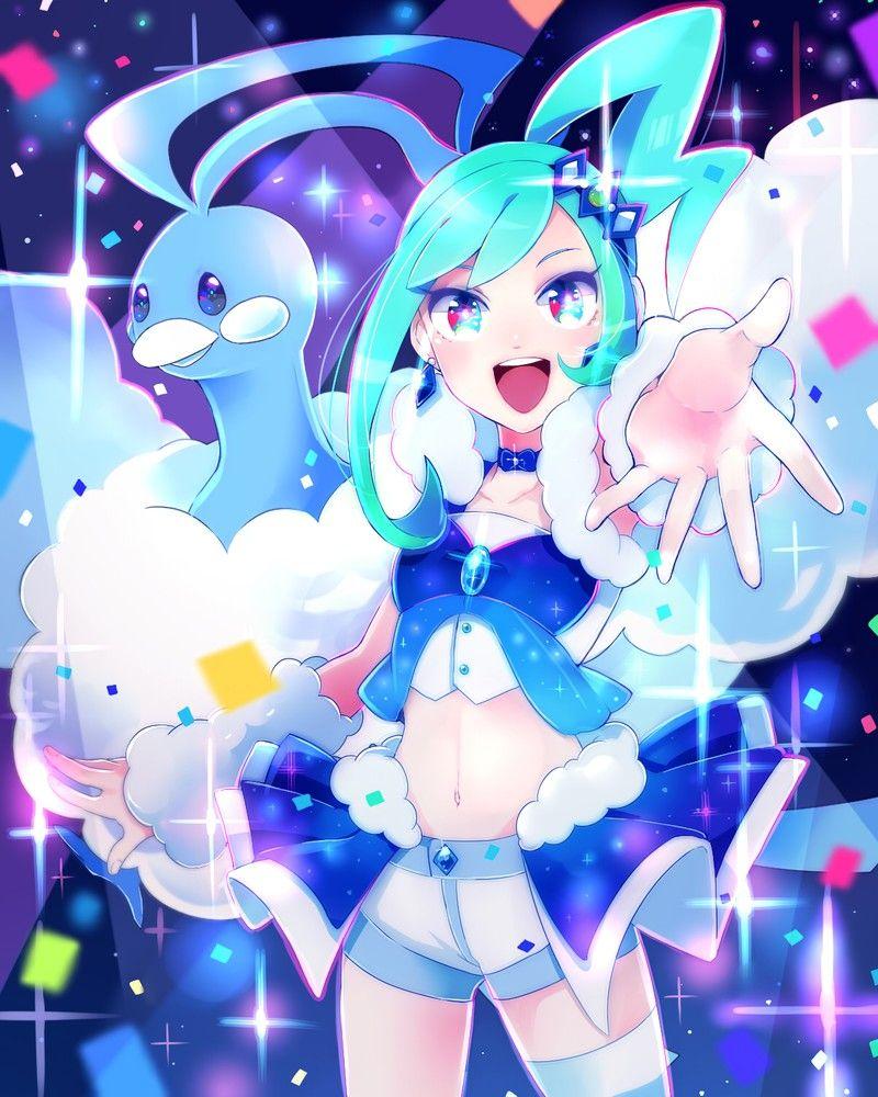 pokémon lucia and 334 altaria art by kisaragiyuu sankaku channel
