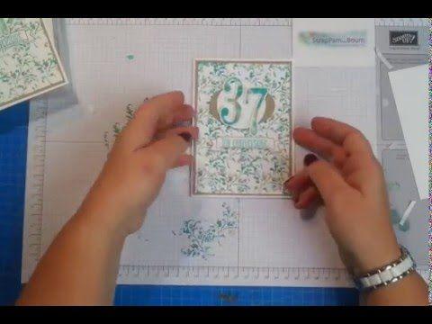 Carte Anniversaire Avec Technique Des Lingettes Au Fil Des