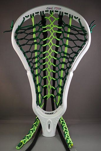 The Monster Stringing Pattern Looks Great In Heads Colored White Black Yellow Navy Forest Green And Light Blue 35 Head Color Custom Lacrosse Color
