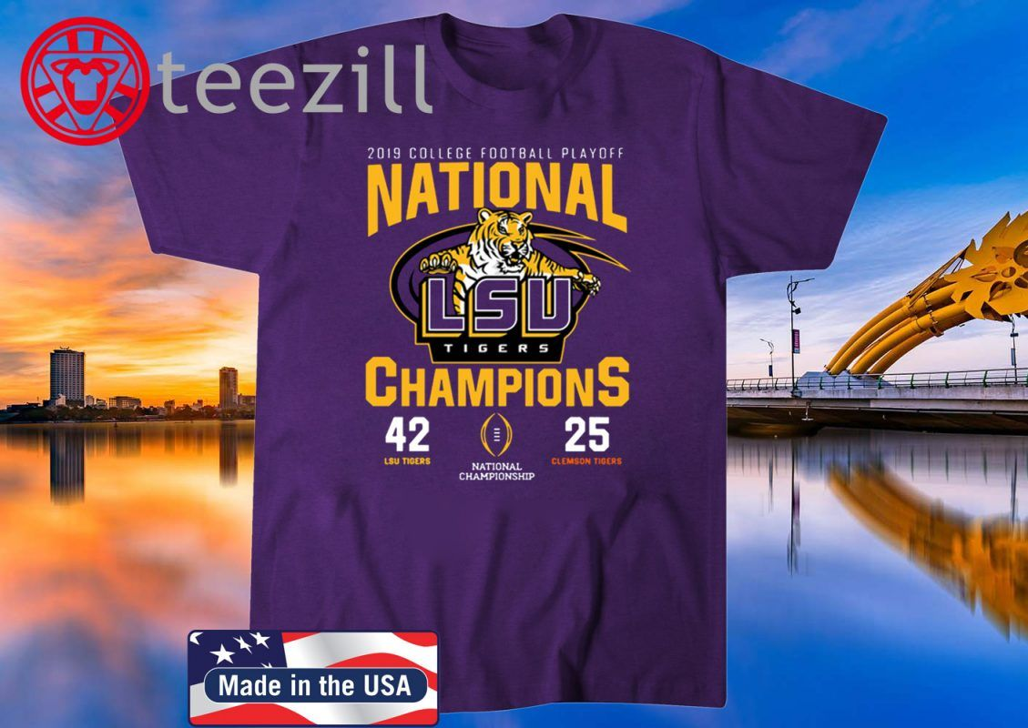 LSU Nationals Championship 2020 With Scores Official T