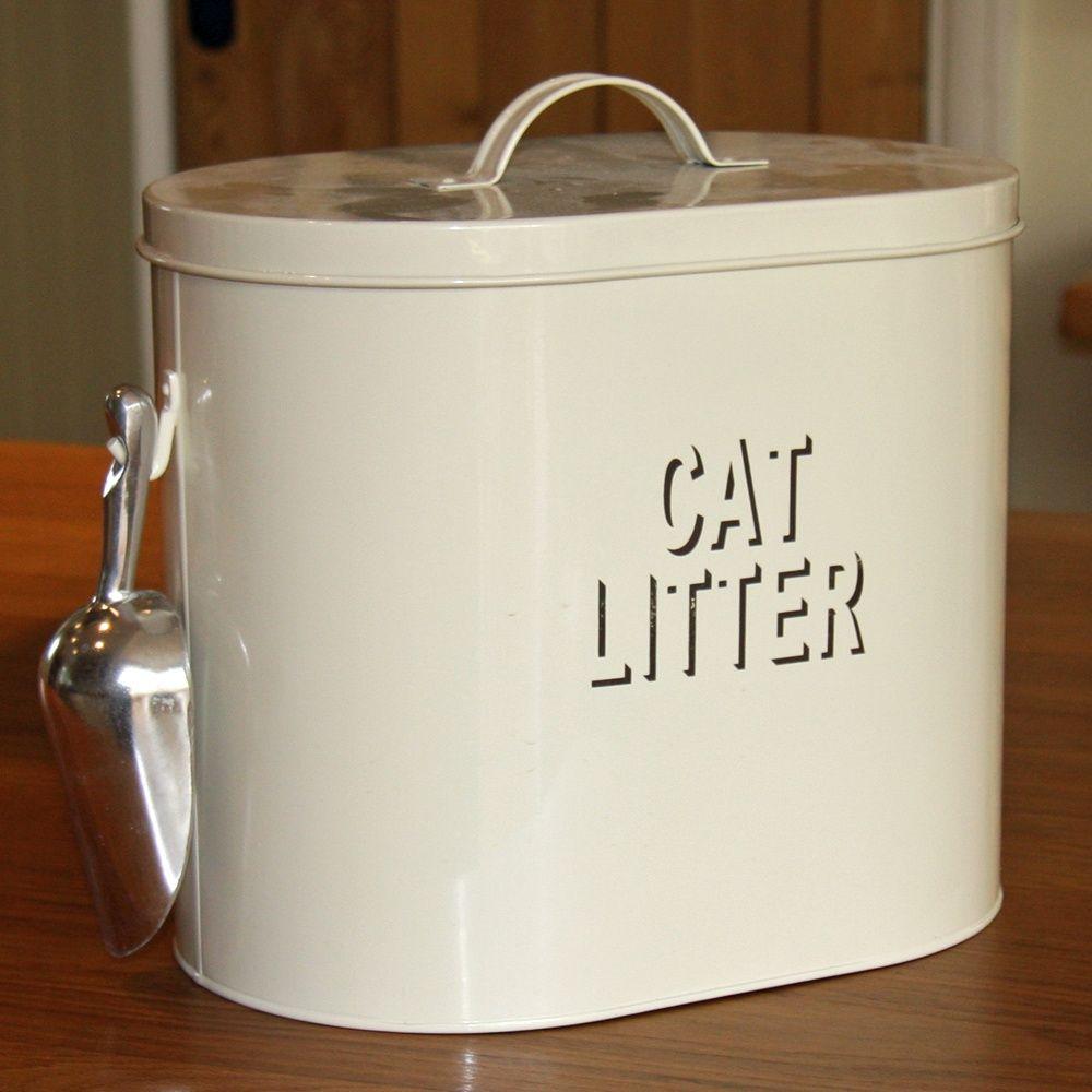 Cream enamelcat litter tin cat litter litter cat