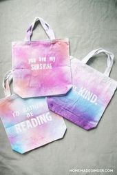 Best DIY Round Up Decorating A Blank Canvas Tote Bag DIY Blank Tote Bag Tie Dye Spray Decorate This image has get 2 repins Author Katie Ritter