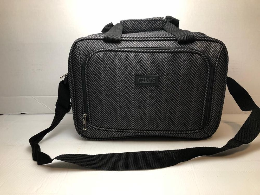1b6ff016042f Chaps Ralph Lauren Grey Black Carry On Travel Luggage Bag  fashion   clothing  shoes  accessories  mensaccessories  bags