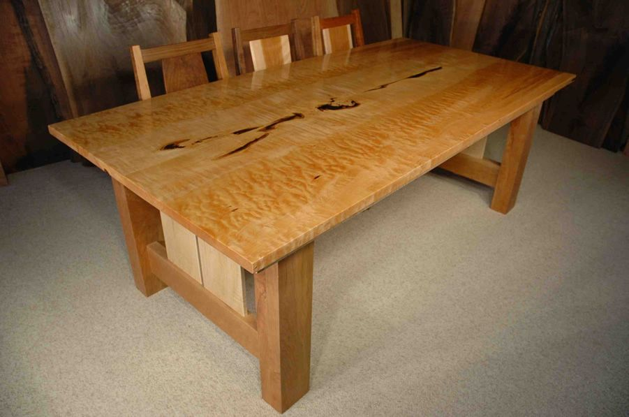 7 Custom Quilted Maple Dining Table
