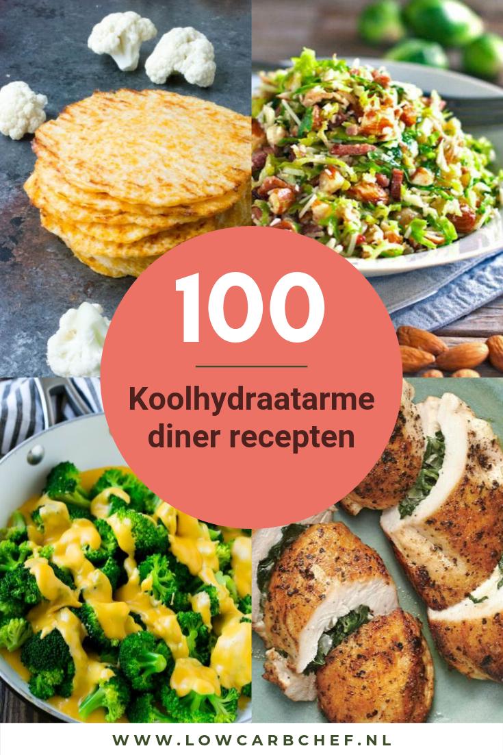 100 Koolhydraatarme diner recepten