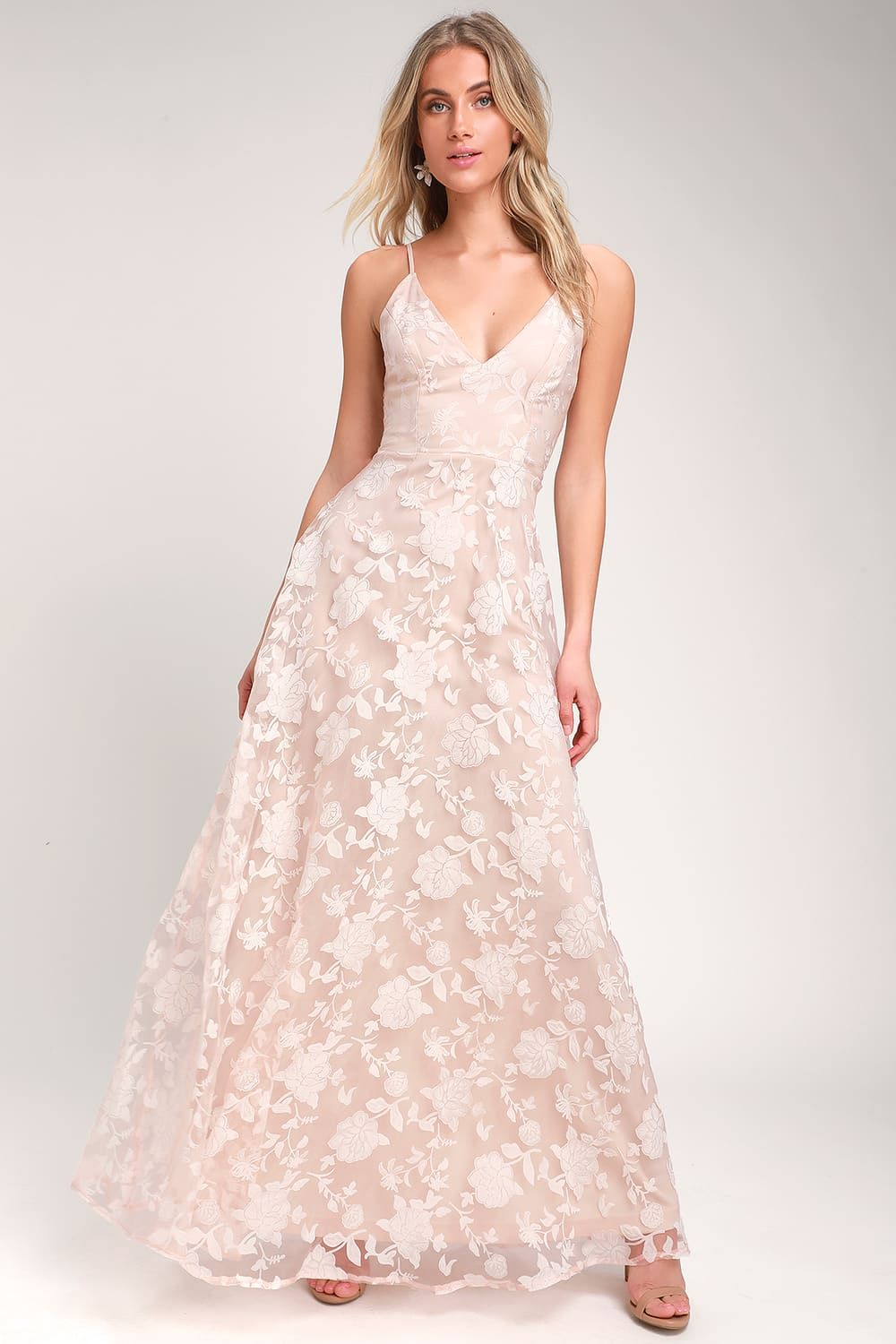 644dc14a42df Everlasting Romance Blush Floral Maxi Dress in 2019 ...