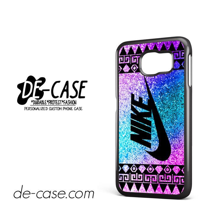 Nike Aztec Blue Glitter DEAL-7765 Samsung Phonecase Cover For Samsung Galaxy S6 / S6 Edge / S6 Edge Plus