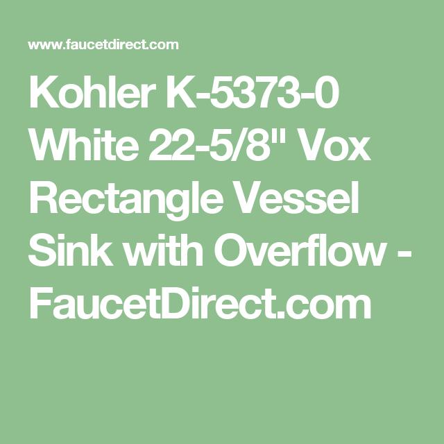 Kohler K-5373-0 White 22-5/8\