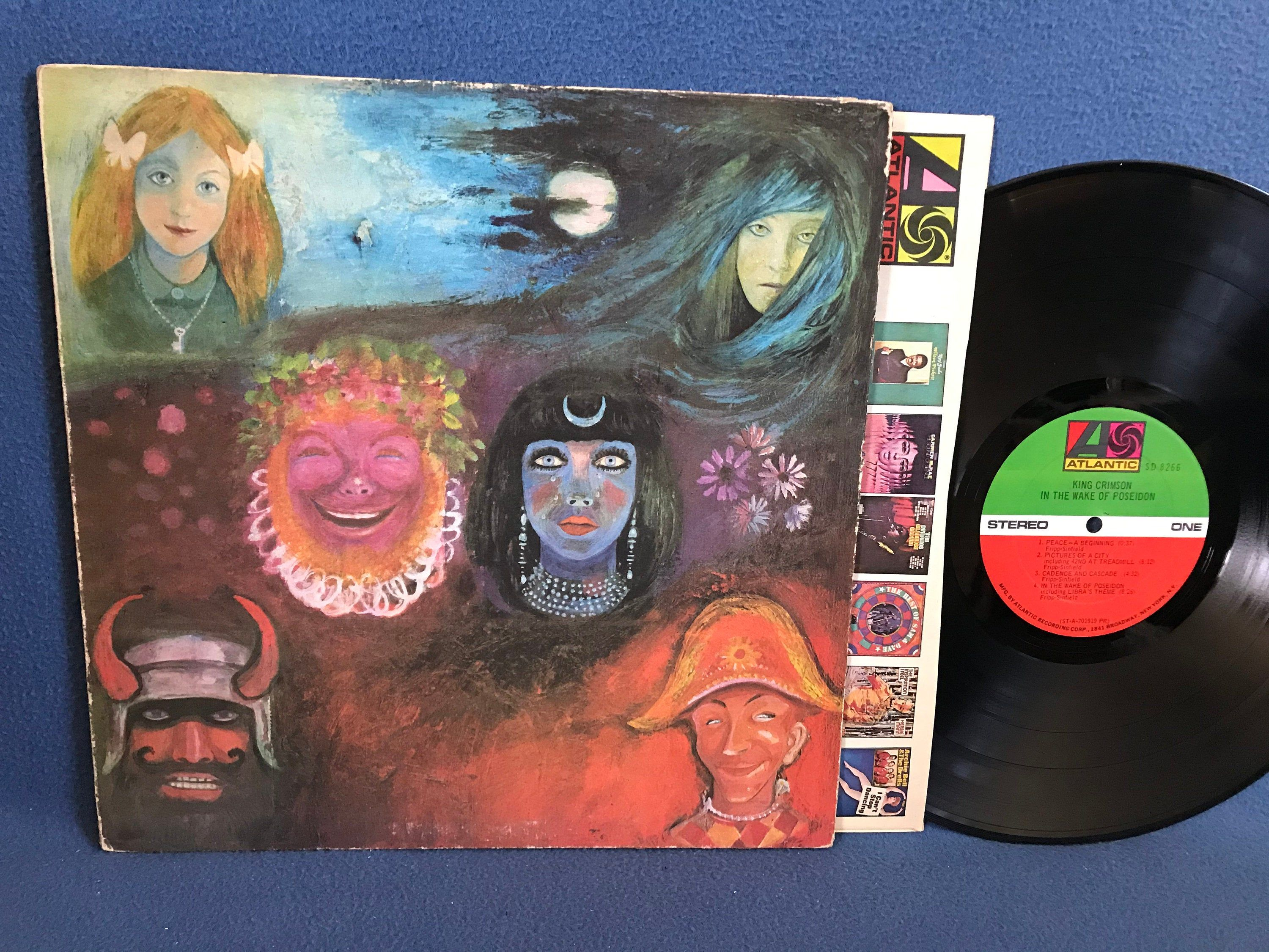 Rare Vintage King Crimson In The Wake Of Poseidon Vinyl Lp Record Album Original First Press Broadway Pictures Of A City Psych Prog In 2020 King Crimson Vinyl Sales The Originals