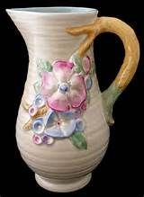 Clarice Cliff My Garden Jug X2f Vase Clarice Cliff Cliff Pottery