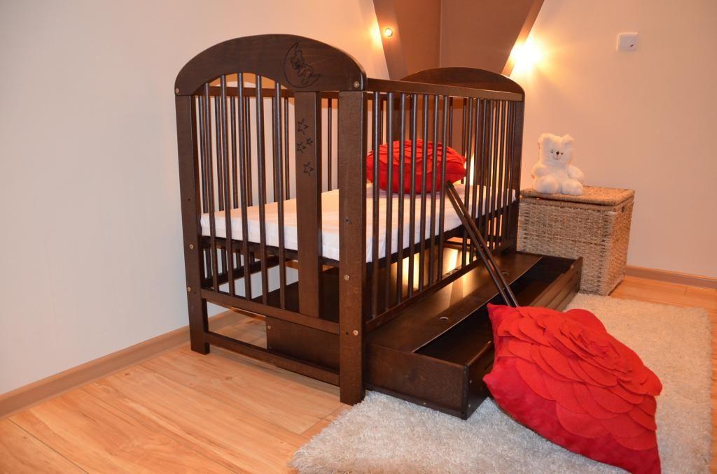 Lozeczko Dzieciece Drewniane Bukowe Wenge Szuf Pkg 4053804618 Oficjalne Archiwum Allegro Cribs Decor Furniture