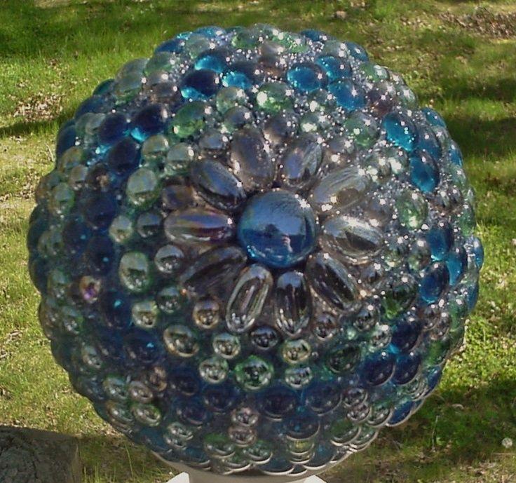 Garden Balls Decorative A Decorative Garden Balls Made With Glass Gems Httpmediacache