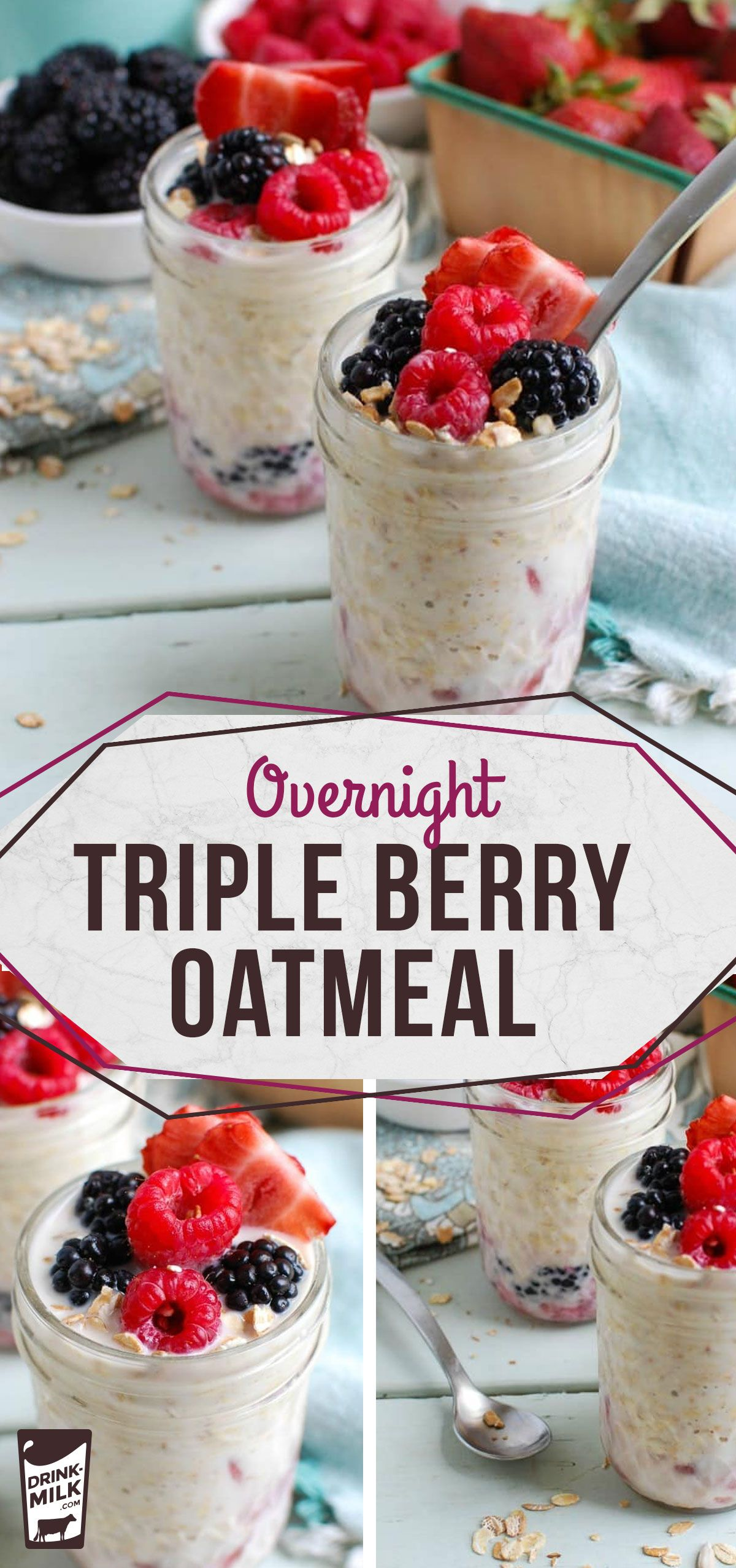 Overnight Triple Berry Oatmeal Berry Oatmeal Triple Berry