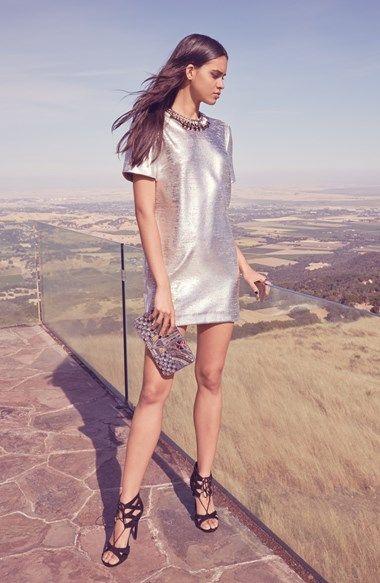 Yes, to this metallic mini dress!