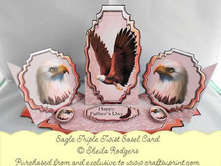 Triple twist easel card eagle military pinterest easel cards