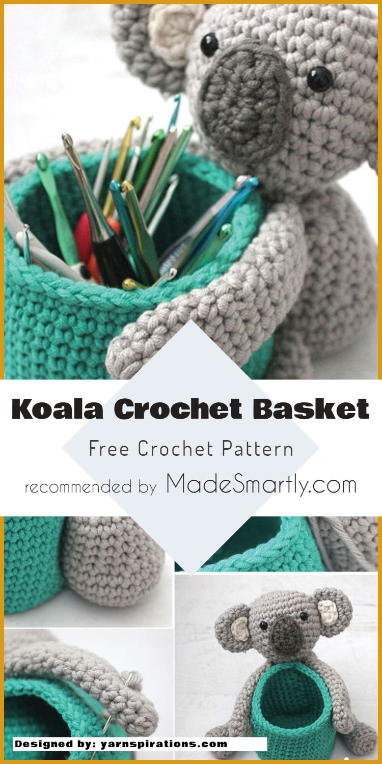 7 Handy Crochet Hook Cases, Baskets And Holders - Free Patterns