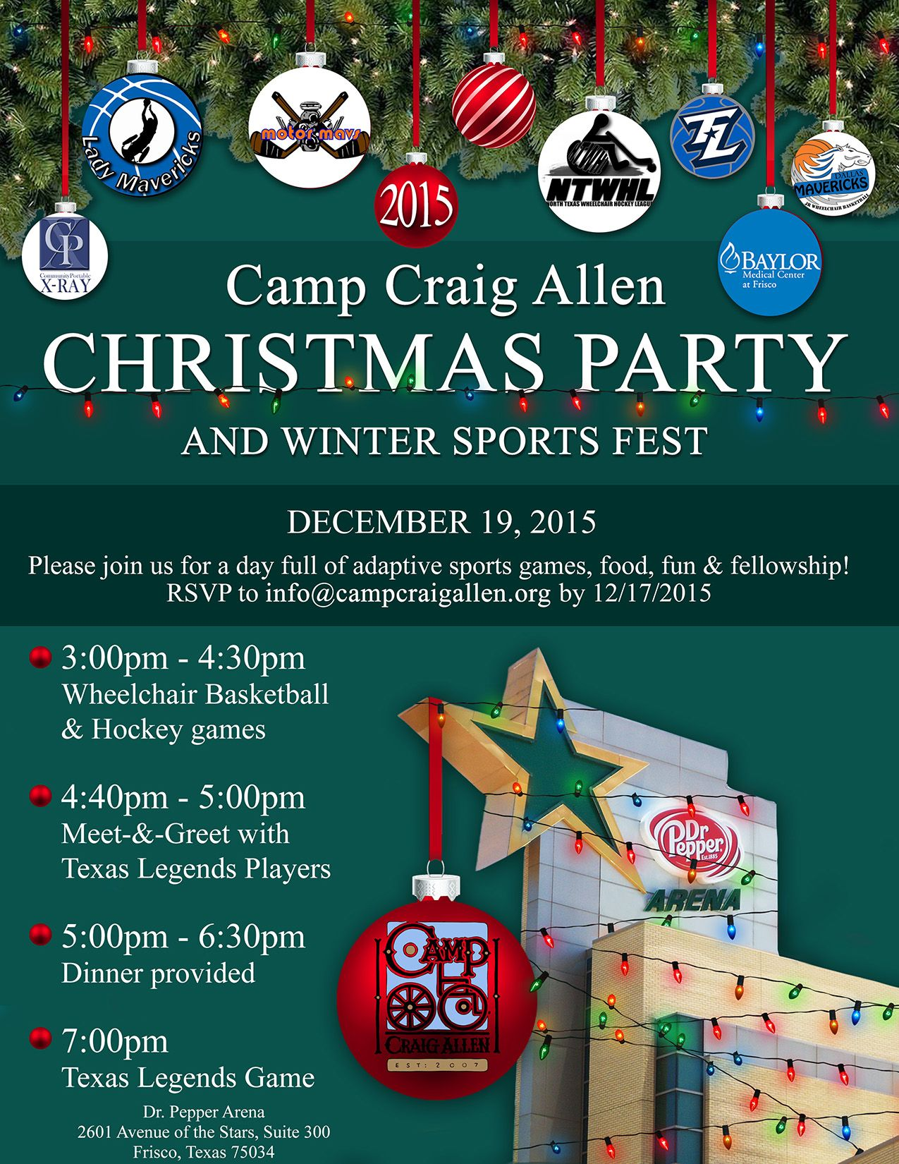 everyone is welcome to join the 2015 christmas party and winter