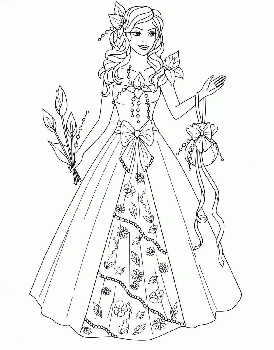 Рисовалка онлайн Принцесса Весна | Раскраски, Детские ...
