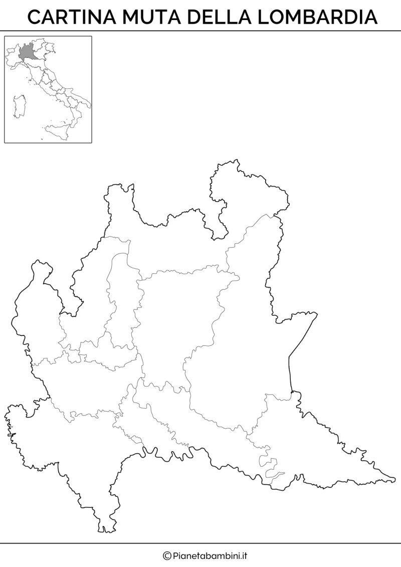 La Cartina Fisica Della Lombardia.Cartina Muta Fisica E Politica Della Lombardia Da Stampare Attivita Geografia Geografia Lezioni Di Scienze