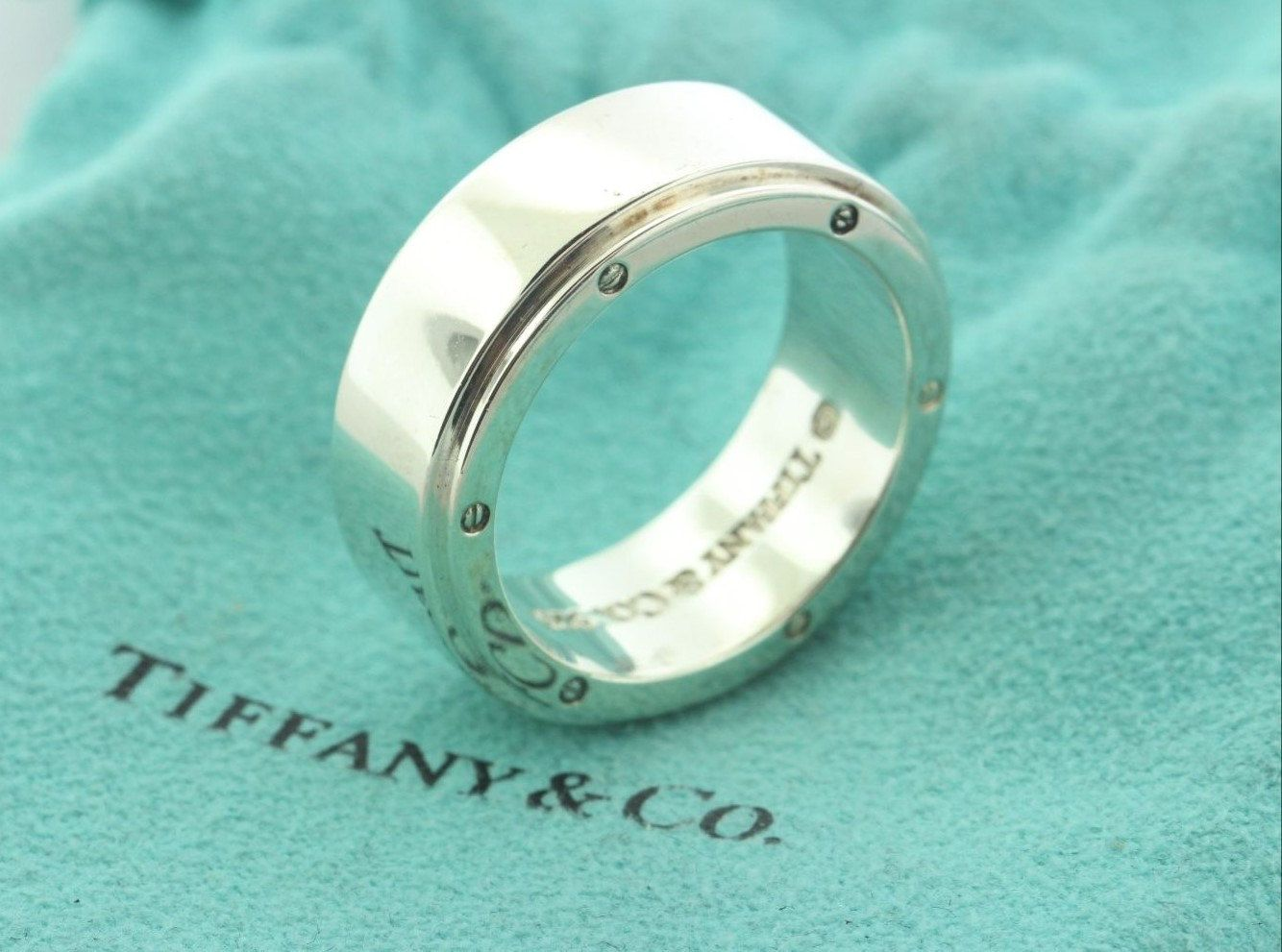 27c7d67b9 Vintage Tiffany & Co. Metropolis Sterling Silver Band Ring Size 9.5 by  wandajewelry2013 on Etsy