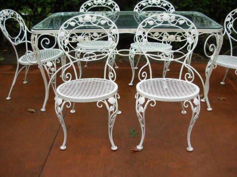 Woodard Chantilly Rose Joan Bogart Iron Furniture