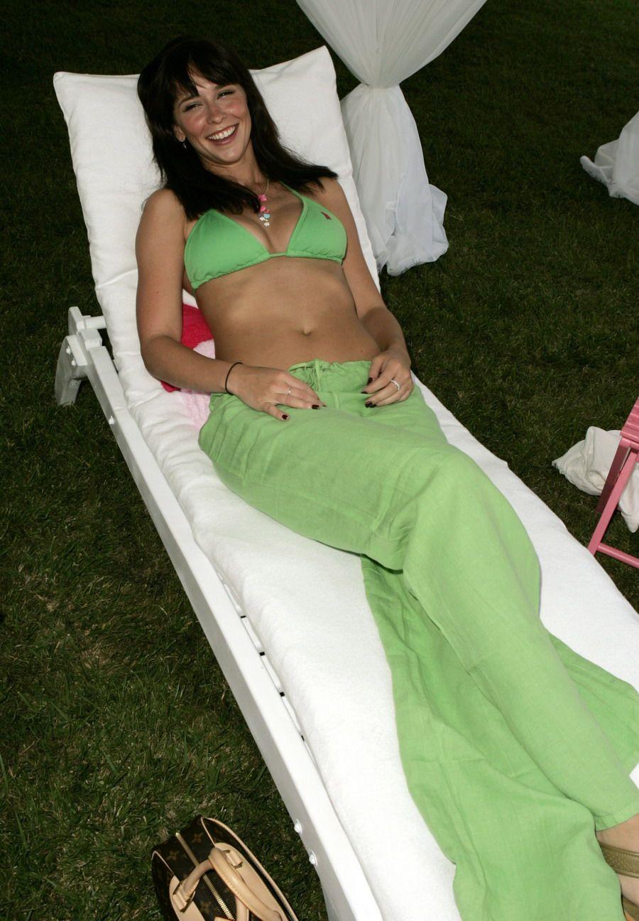 Love hewitt green bikini