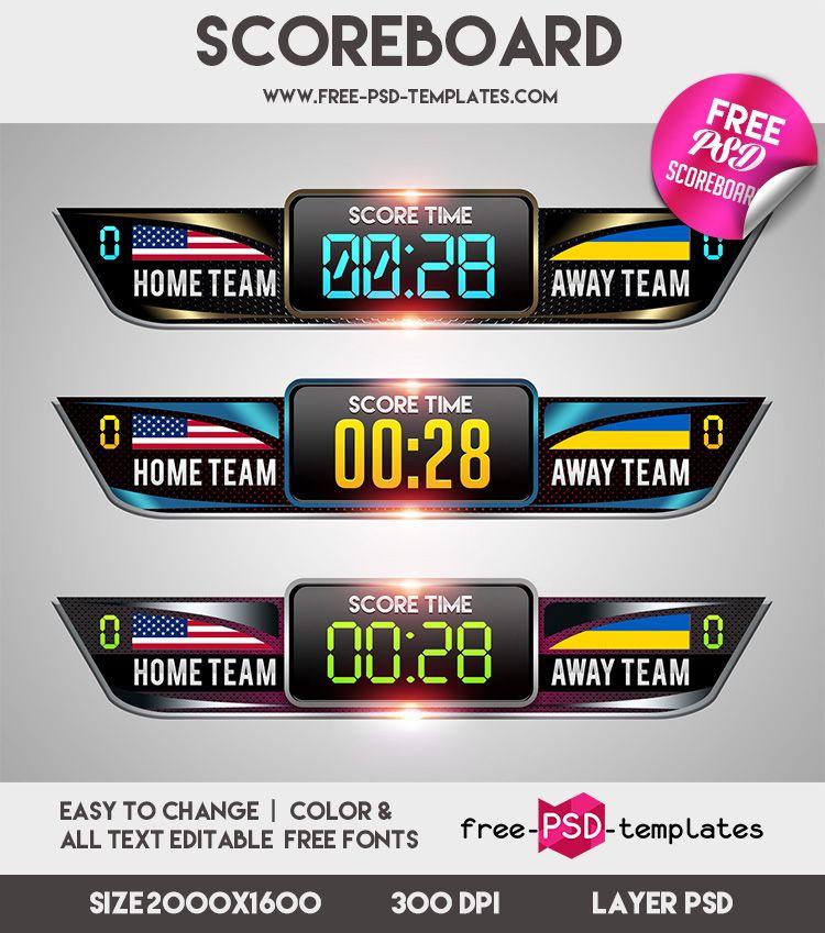 Free Scoreboard Mockup  FreePsdTemplatesCom  Free Photoshop