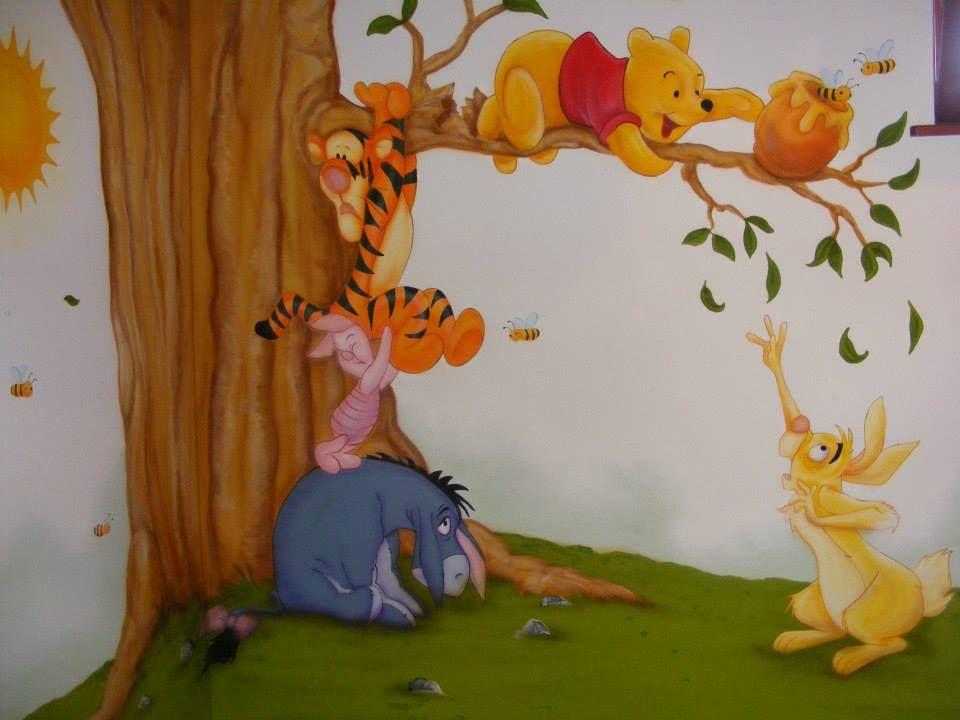 Falfest s gyerekszob ba google keres s decoraci n de - Habitacion winnie the pooh ...
