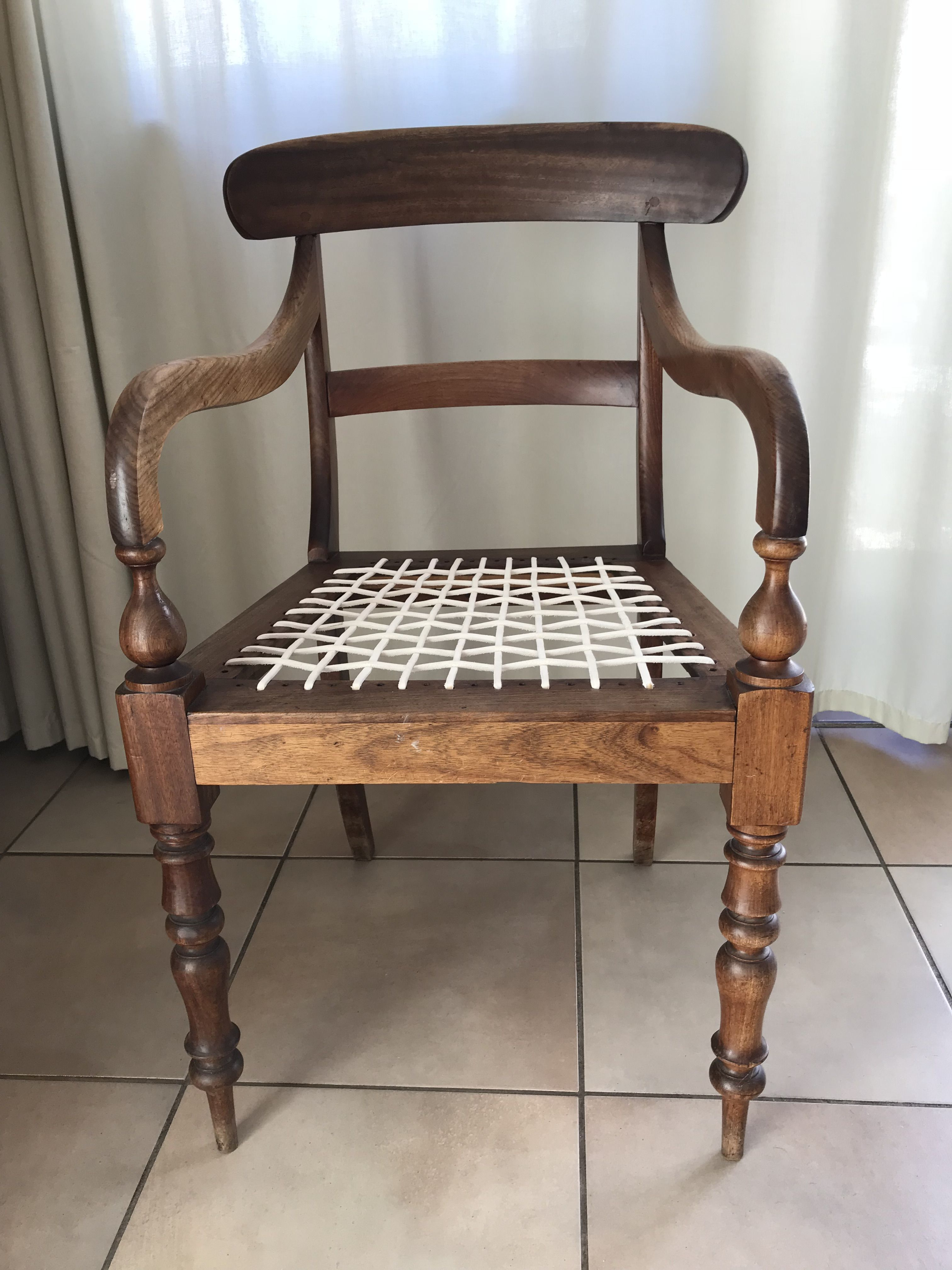 Riempie Chair In Yellow Wood And Stinkwood Antique Cape