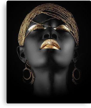 African Queen Canvas Print By Johnnyssandart In 2020 African Wall Art African Art Black Love Art